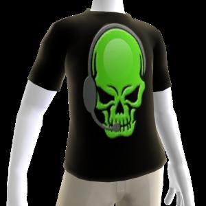 Epic Horror Skull Gamer Green T-Shirt