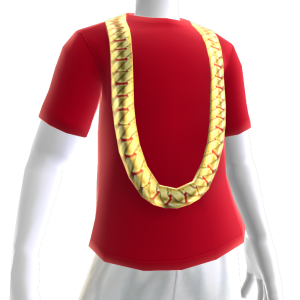 Cuban Link Chain with Red Tee