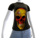 3d Spain Soccer Skull Shirt