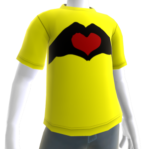 Valentine's - Heart in Hand Yellow Tee