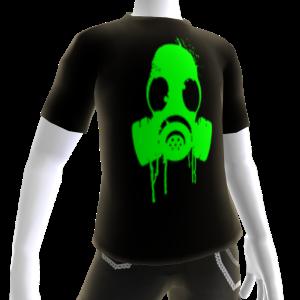 Green Gas Mask Black Tee