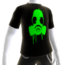 Green Gas Mask Black Tee