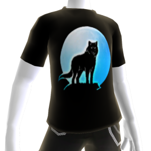 Blue Wolf Howl Tee 2