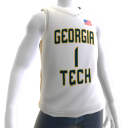 Georgia Tech Basketball Home Jersey