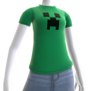 Minecraft Creeper T シャツ (F)