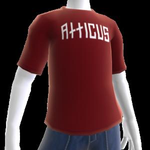 Atticus Double Slash Red t-shirt