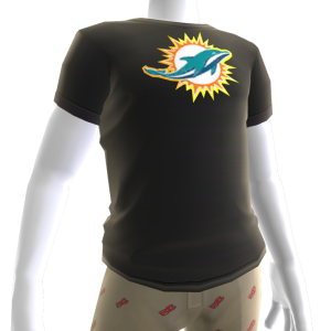 Dolphins Gold Trim Tee