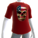 USA Soccer Skull Red