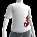 T-shirt blanc Dragon de sang