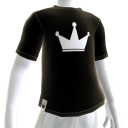 White on Black Crown Tee