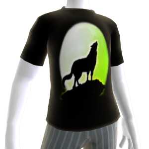 Wolf with Green Moon