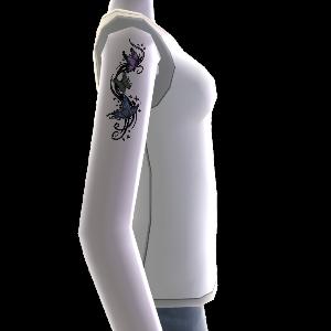 Schmetterling Tattoo & Shirt weiß