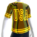 Epic Tshirt USA Gold Chrome