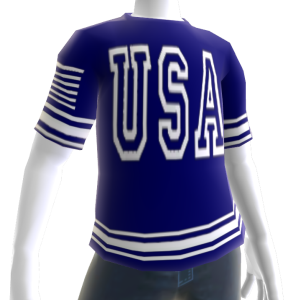 USA Soccer Blue Jersey White