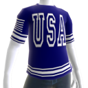 USA Soccer Blue Jersey White