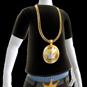 KKZ Medallion Chain on Black Tee