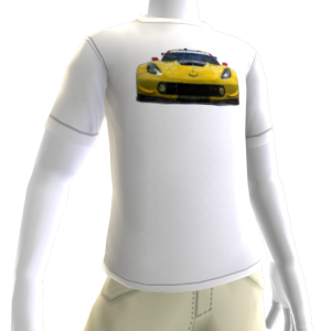 2016 C7.R Edition Corvette White Tee 1