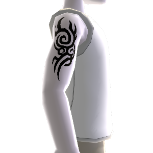 Muster Tattoo klein & Shirt weiß