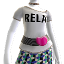 """Camiseta """"Relax"""", cinturón y collares"""