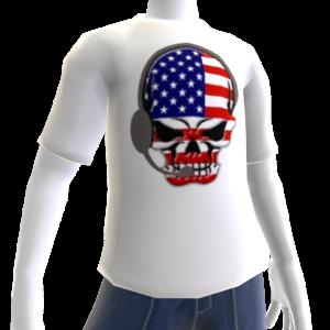 USA Soccer Gamer Skull White