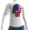 USA Soccer Gamer Skull White