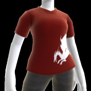 T-shirt sangue del drago rossa