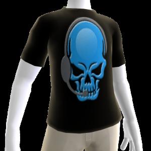 Epic Horror Skull Gamer Blue T-Shirt