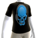 Epic Horror Skull Gamer Blue T-Shirt