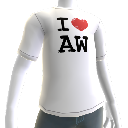 I love Alan Wake shirt - Male