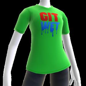 Git Wet Tee- Lime