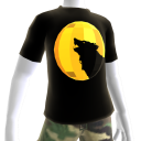 Gold Chrome Wolf Black Shirt