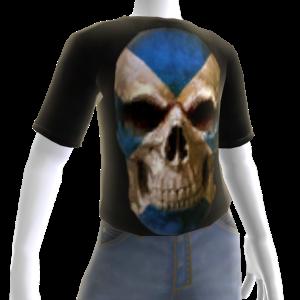 3d Scotland Soccer Skull Shirt