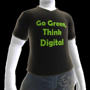 Go Green Think Digital T-shirt