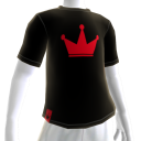 Red on Black Crown Tee