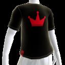 Red on Black Crown Tee