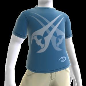 Halo-T-Shirt mit gekreuzten Schwertern