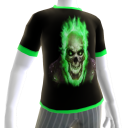Green Fire Skull 2 Green Trim