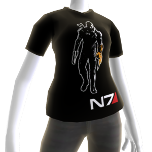 Mass Effect 3 Black Better with Kinect Shirt