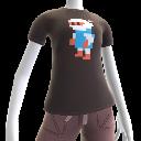 T-shirt Pixel de Bomber blanc