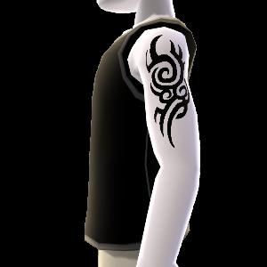 Muster Tattoo klein & Shirt schwarz