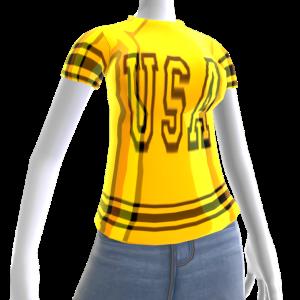 Epic Tshirt USA Black Gold Chrome