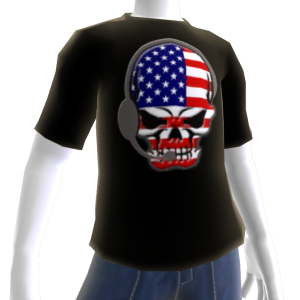 USA Soccer Gamer Skull Black