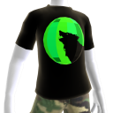 Green Chrome Wolf Black Shirt