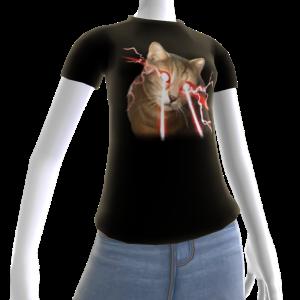 Epic Laser Cat 2 Black T-Shirt
