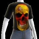 3d Spain Soccer Skull Shirt