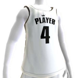 KKZ White and Black Player 4 Jersey