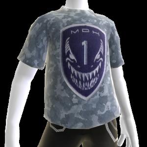 Camiseta con parche de la Fuerza de combate Mako