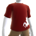 T-shirt rouge Dragon de sang