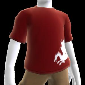 Camiseta roja de sangre de dragón