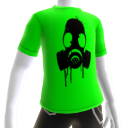 Black Gas Mask Green Tee